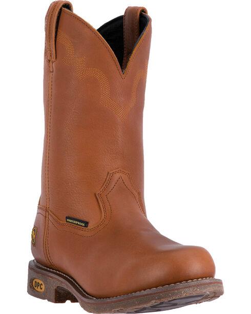 Dan Post Men's Lawton Western Work Boots, Honey, hi-res