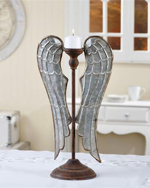 Giftcraft Metal Angel Wings Tealight Candle Stand - Small, No Color, hi-res