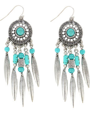 Shyanne® Women's Dreamcatcher Earrings, Silver, hi-res