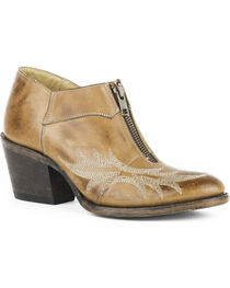 Stetson Women's Nicole Brown Short Western Boots - Round Toe, , hi-res