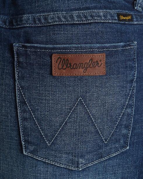 Wrangler Retro Women's Mae Unfinished Hem Denim Skirt, Indigo, hi-res