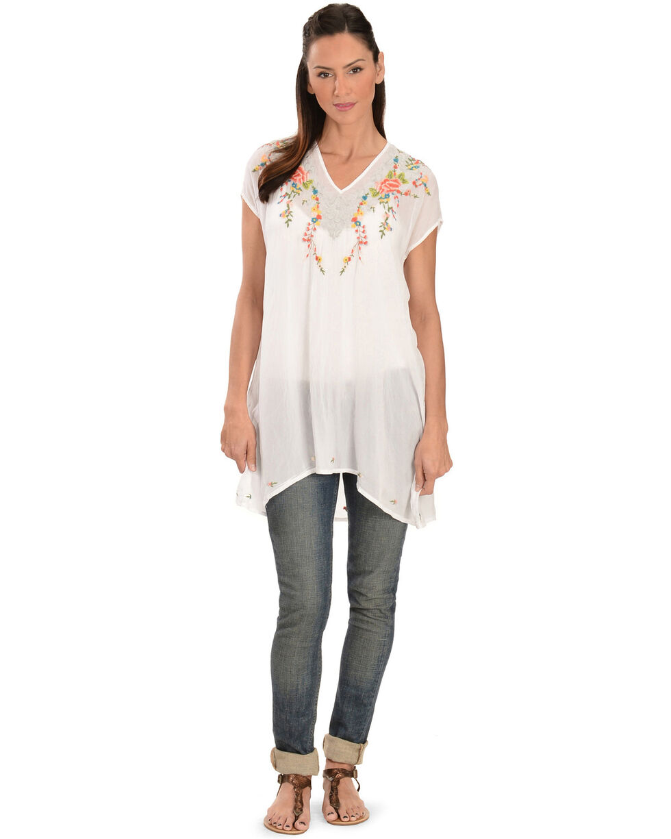 Johnny Was Women's Valerie Tunic, White, hi-res