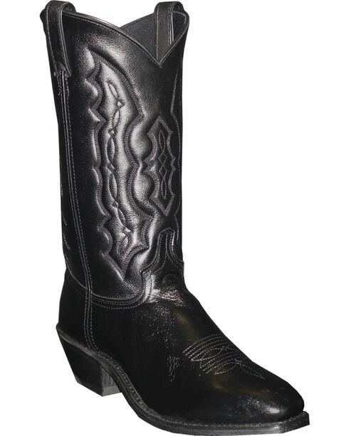Abilene Men's Cowhide Western Boots, Black, hi-res