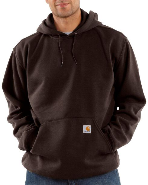 Carhartt Men's Midweight Hooded Pullover Sweatshirt, Dark Brown, hi-res