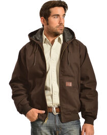 Gibson Trading Co. Men's Hooded Chocolate Brown Jacket, , hi-res