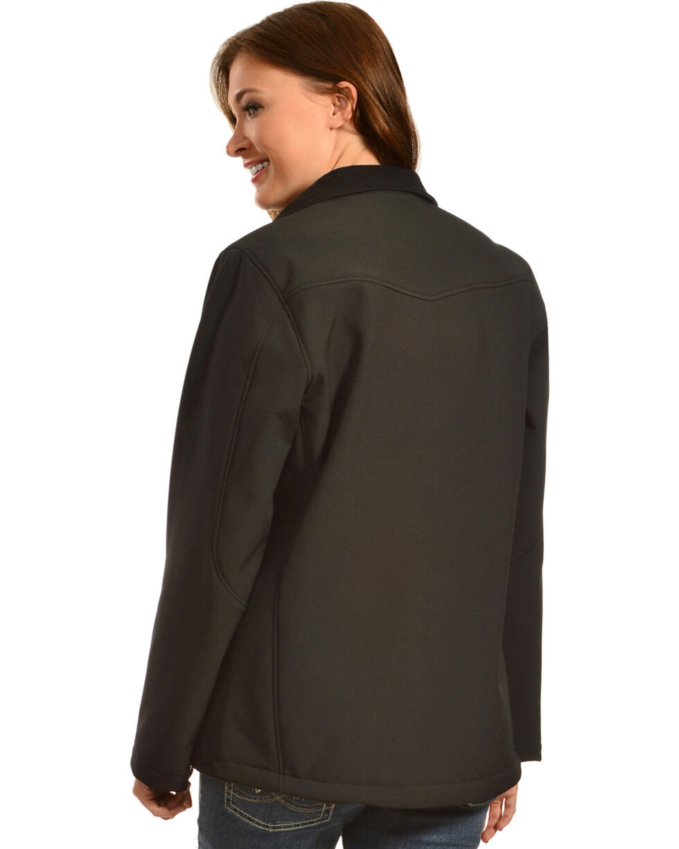 Red Ranch Women's Embroidered Black Bonded Jacket , , hi-res