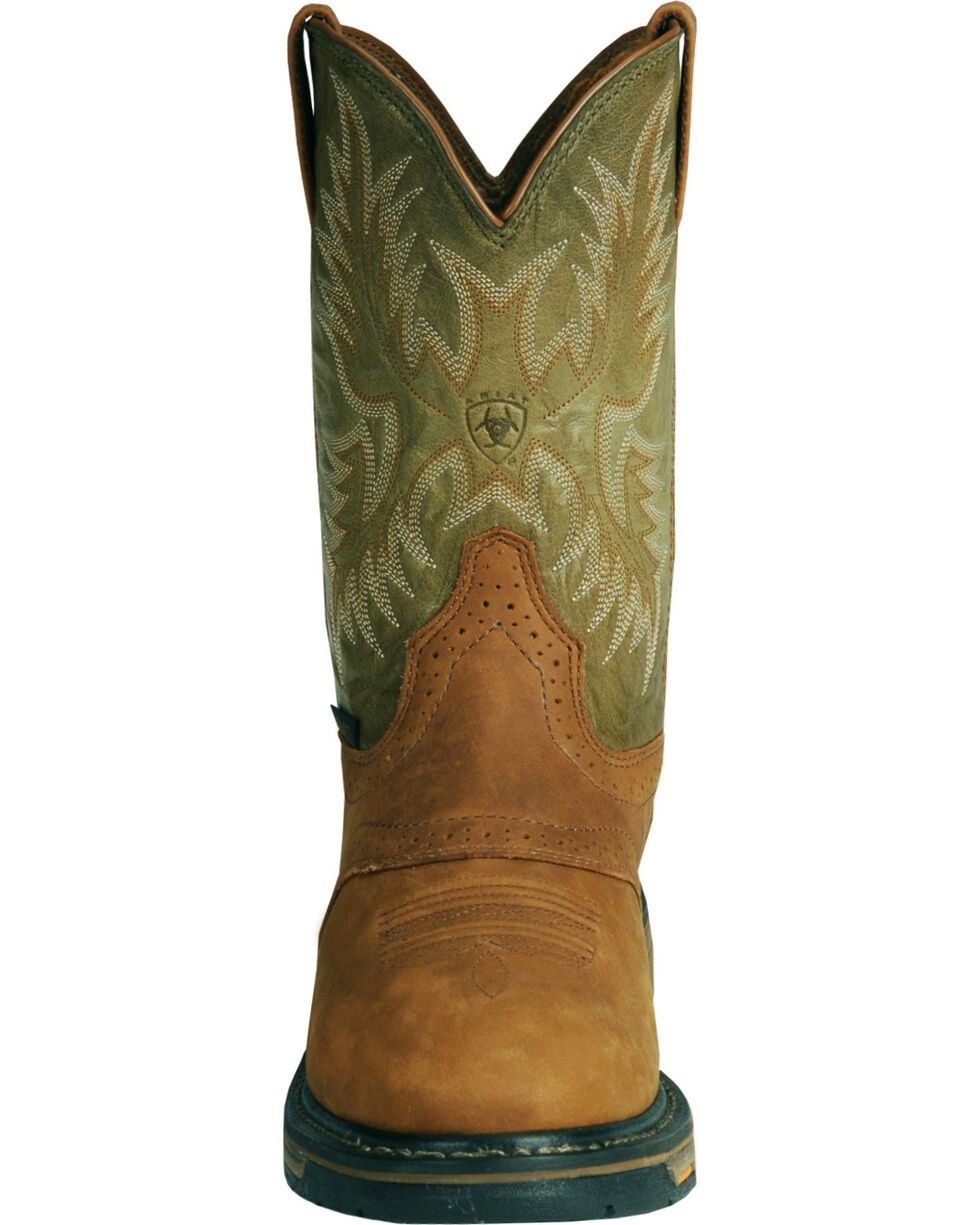 Ariat Men's Workhog Composite Toe Work Boots, Bark, hi-res