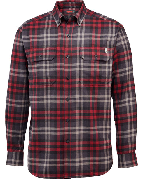 Wolverine Men's Escape Plaid Flannel Shirt, Grey, hi-res