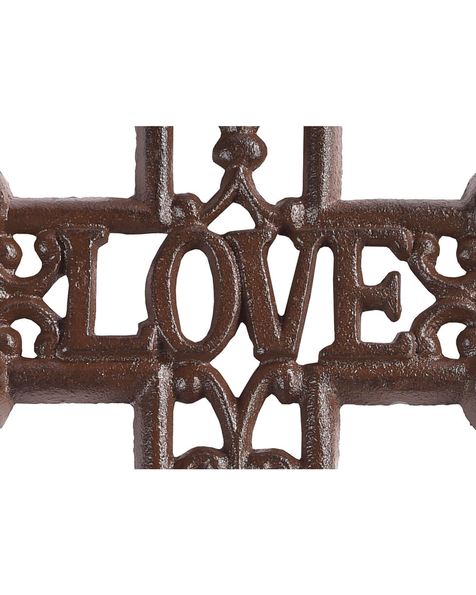 BB Ranch Love Antique Wall Cross, Brown, hi-res
