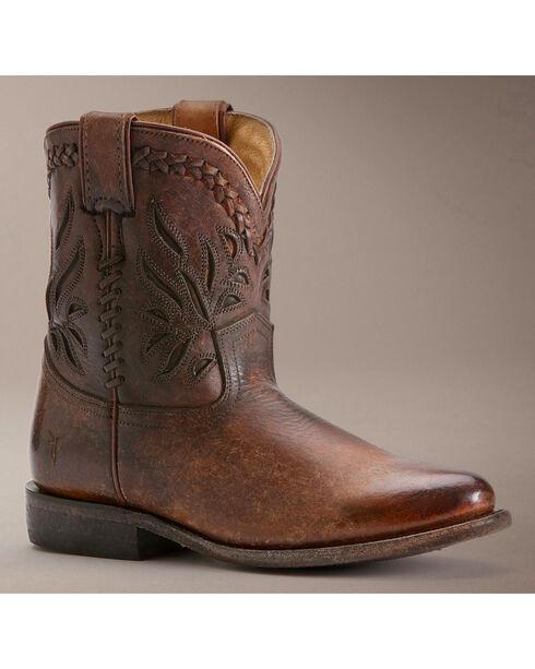Frye Wyatt Overlay Short Boots, Cognac, hi-res