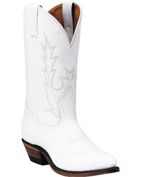 Boulet Tamboreador Blanco Cowgirl Boots - Pointed Toe, White, hi-res