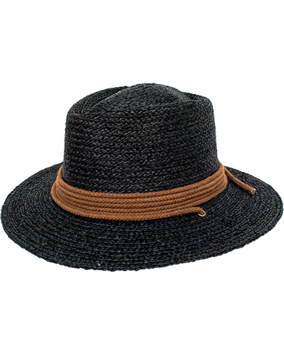 Peter Grimm Women's Black Maju Straw Hat , Black, hi-res