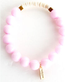 Everlasting Joy Jewelry Women's Bubblegum Pink Coconut Bracelet , , hi-res