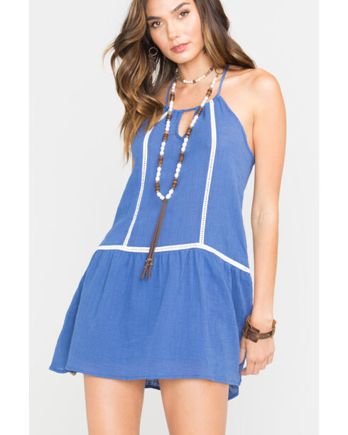 Sage the Label Women's Tulum Tunic , Blue, hi-res