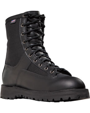 "Danner Men's Black Acadia 8"" Work Boots - Round Toe , Black, hi-res"