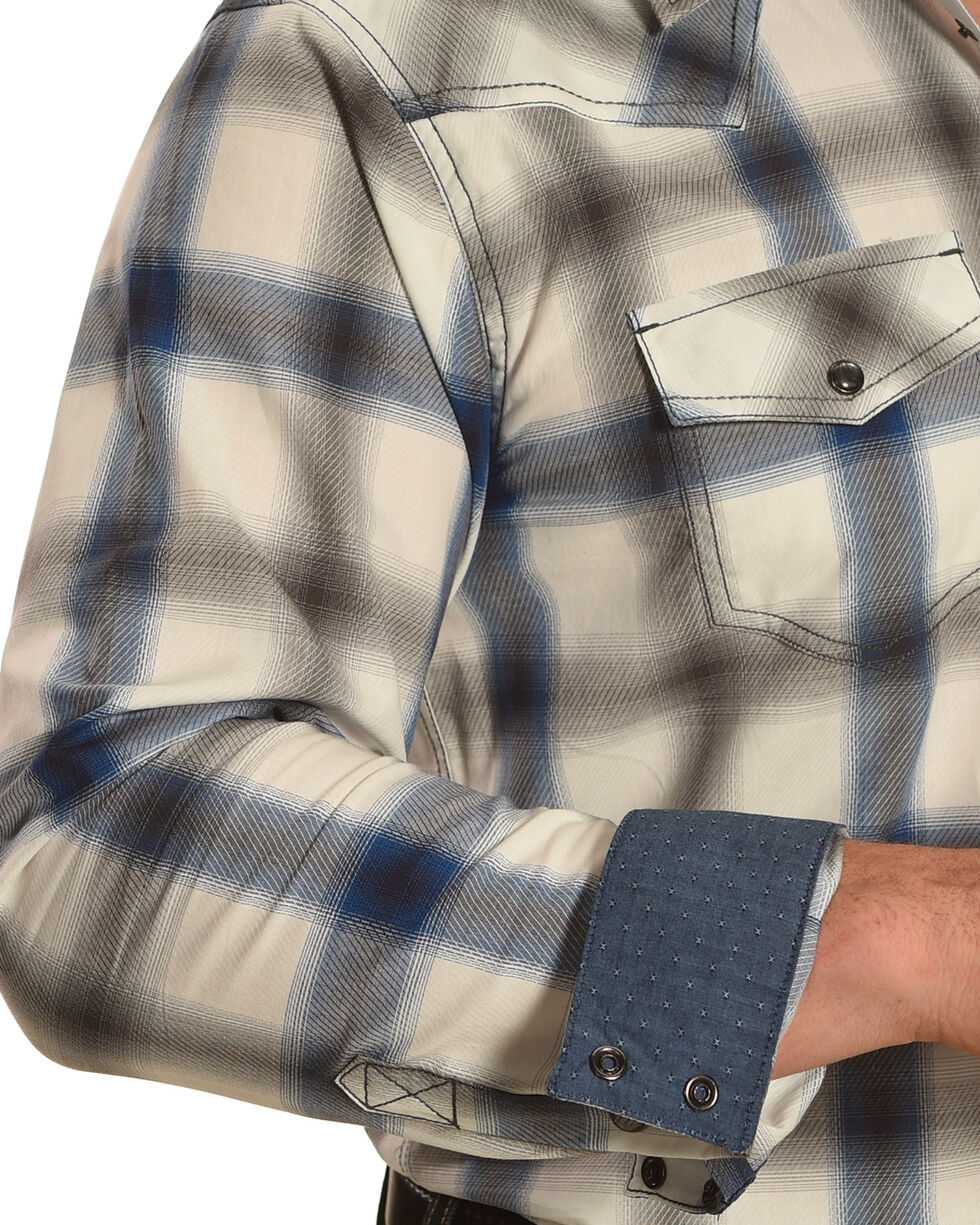 Cody James Men's Big Bend Plaid Long Sleeve Shirt, Turquoise, hi-res