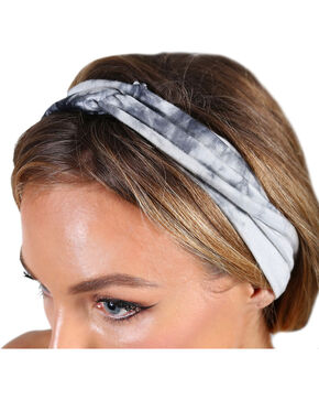 Shyanne® Women's Tie Dye Headband, Black, hi-res