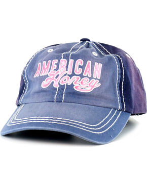 Shyanne® Women's American Honey Baseball Cap, Blue, hi-res