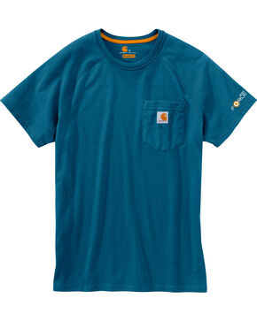 Carhartt Men's Delmont Short Sleeve T-Shirt, Blue, hi-res