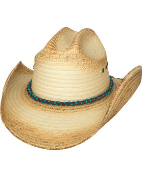 Bullhide Women's ALL EYES ON YOU Straw Western Hat, Natural, hi-res