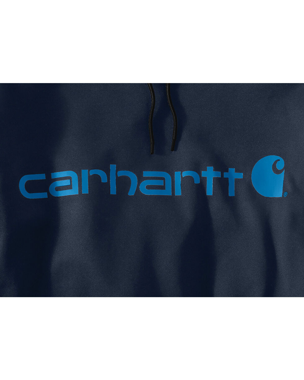 Carhartt Men's Force Extremes Signature Hooded Sweatshirt, Navy, hi-res
