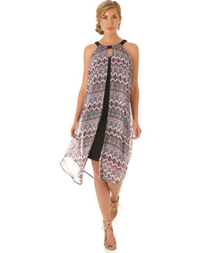 Wrangler Women's Multi Sleeveless Flyaway Dress, Multi, hi-res