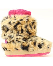 Blazin Roxx Infant Girls' Leopard Print Faux Fur Slippers, , hi-res