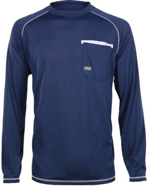 Ariat Men's Rebar Sun Stopper Long Sleeve Shirt, Navy, hi-res