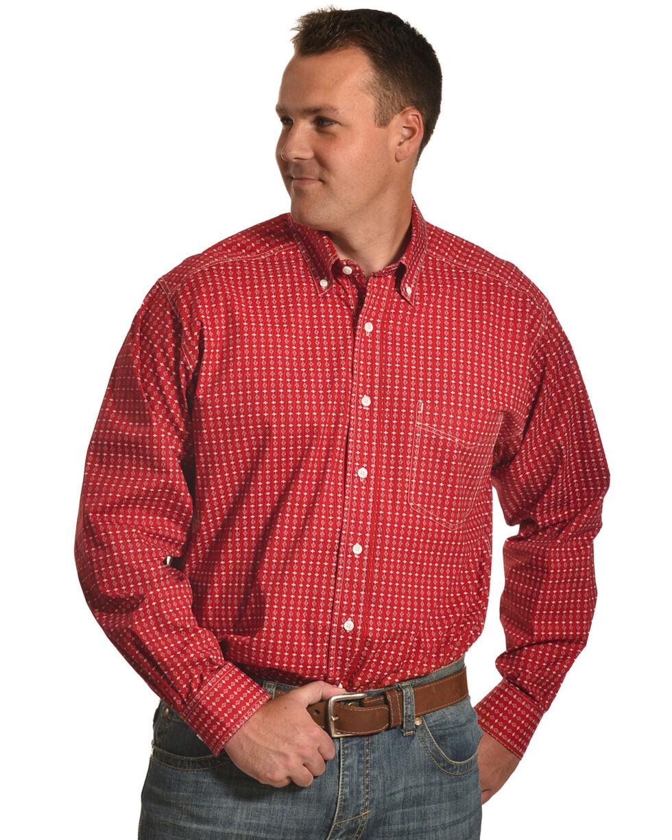 Tuf Cooper Performance Men's Red Multi Plaid Shirt , Red, hi-res