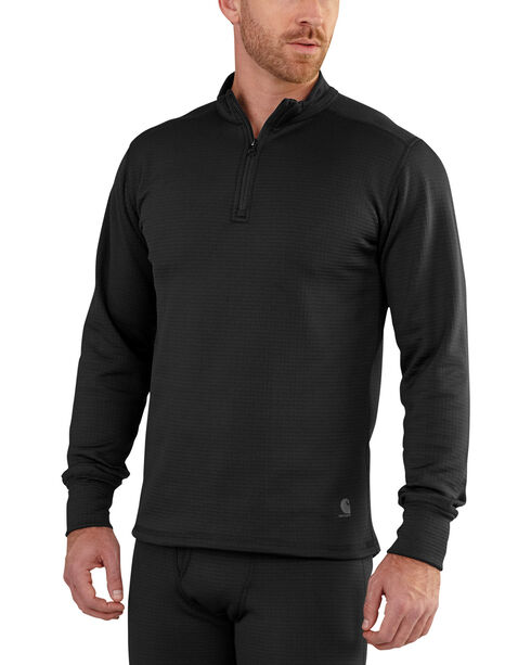 Carhartt Men's Black Base Force Extremes Super-Cold Weather Pullover , Black, hi-res