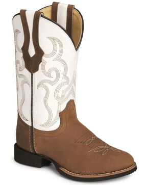 Smoky Mountain Youth Showdown Cowboy Boots, Distressed, hi-res