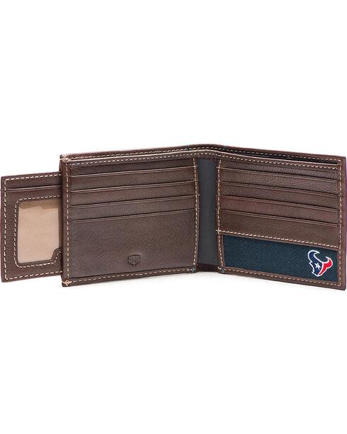 Jack Mason Men's Houston Texans Stadium Sliding 2 in 1 Wallet , Brown, hi-res