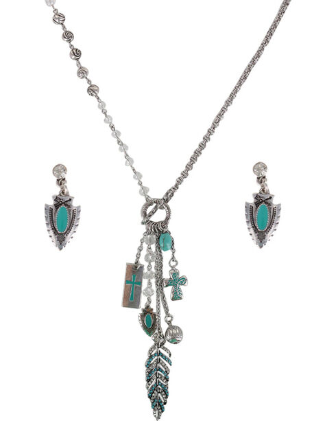 Shyanne® Women's Turquoise Arrowhead Jewelry Set, Turquoise, hi-res