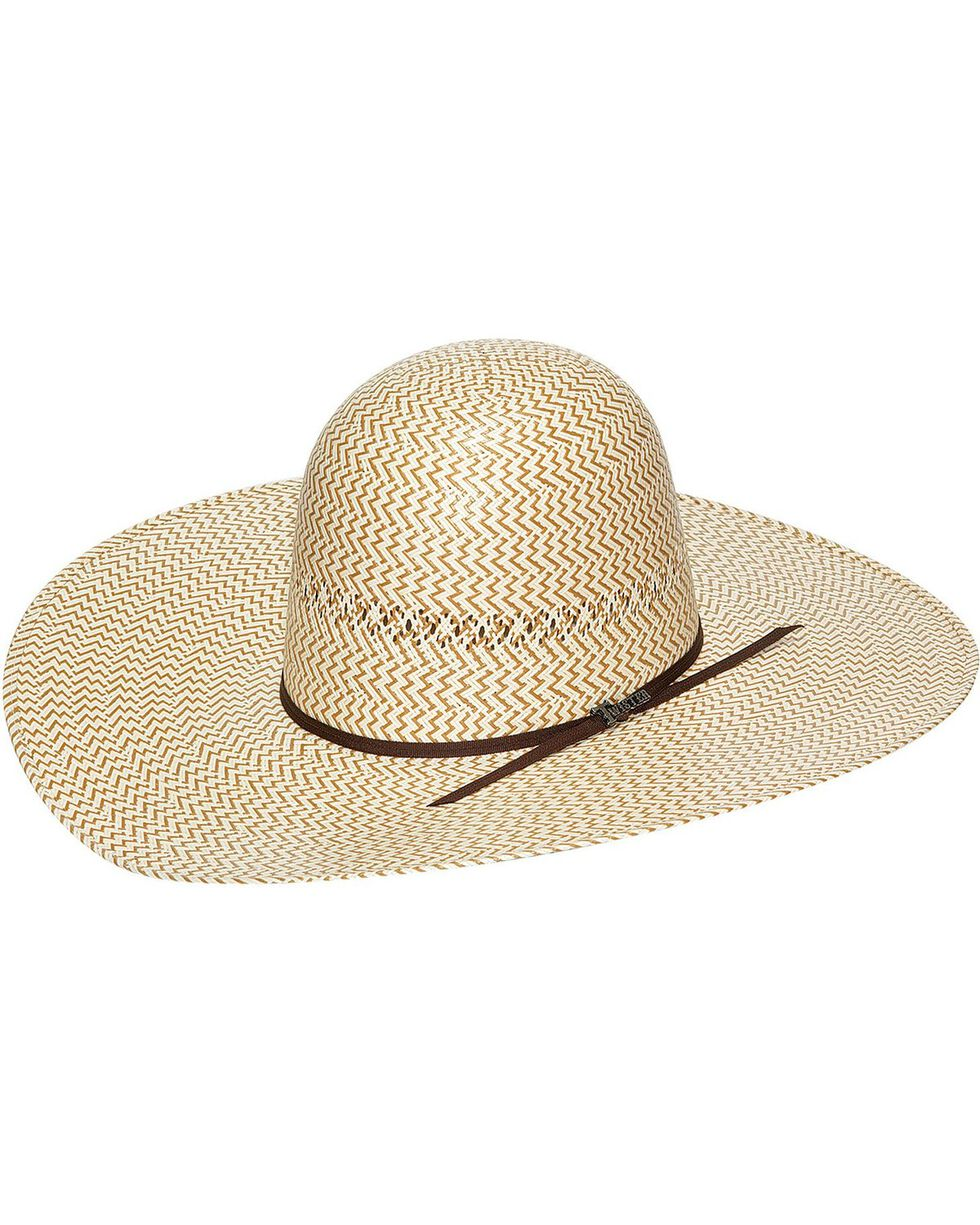 Twister 10X Shantung Straw Open Crown Cowboy Hat, Natural, hi-res