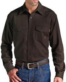 Ariat Men's Flame-Resistant Coffee Work Shirt, , hi-res