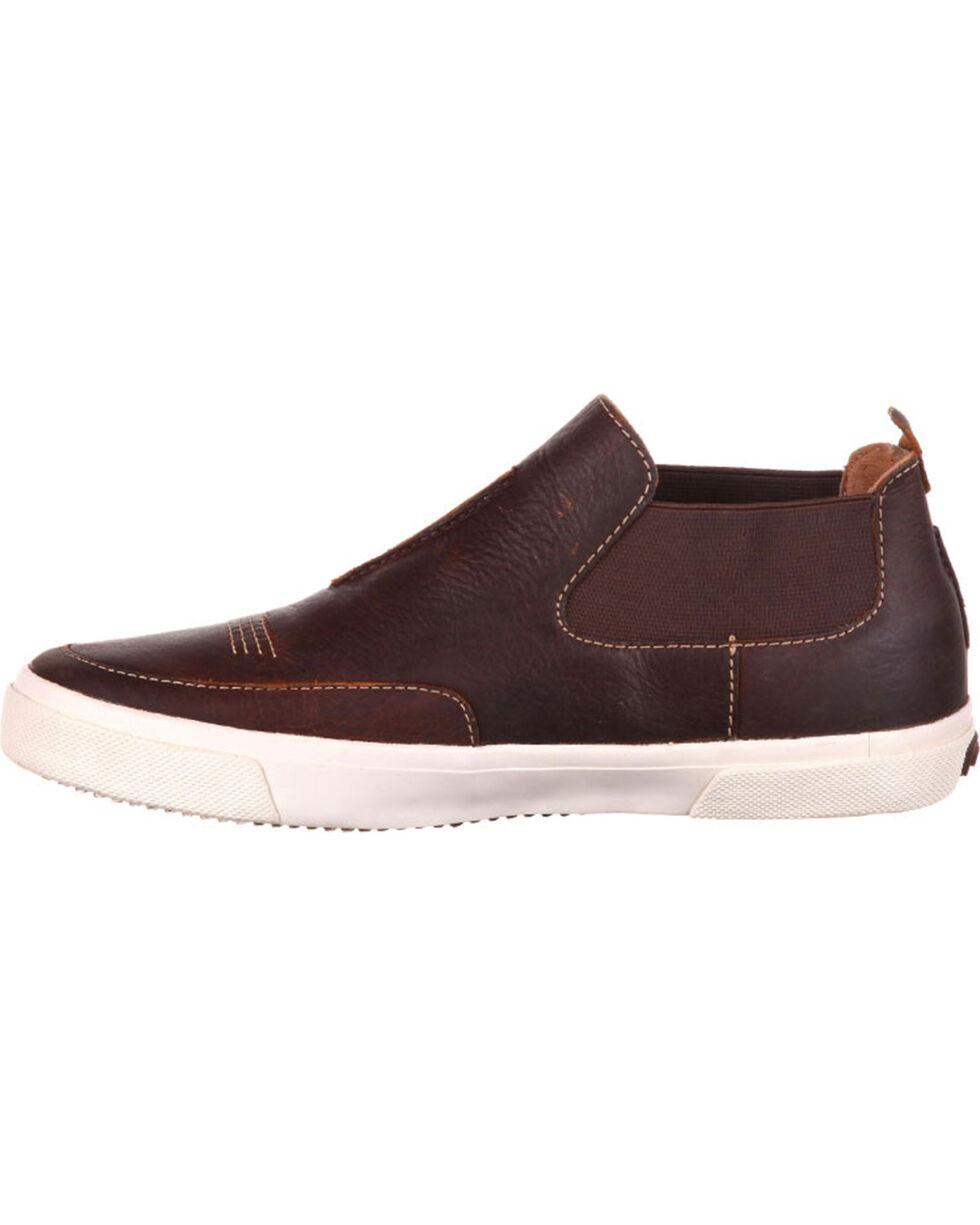 Durango Men's Music City Twin Gore Leather Sneakers, Brown, hi-res