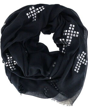 Shyanne® Women's Studded Cross Scarf , Black, hi-res