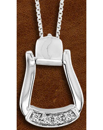 Kelly Herd Sterling Silver CZ-Based Oxbow Necklace, , hi-res