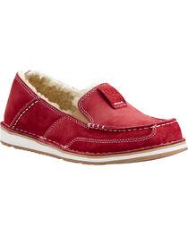 Ariat Women's Red Fleece Cruiser Shoes - Moc Toe, , hi-res