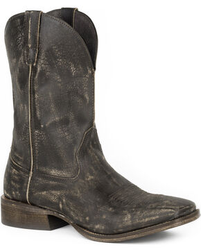 Roper Men's Dusty Western Boots - Square Toe, Brown, hi-res