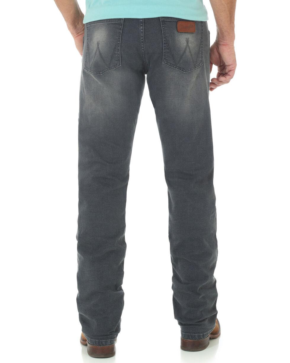 Wrangler Retro Men's Slim Fit Straight Leg Grey Denim Jeans, Indigo, hi-res