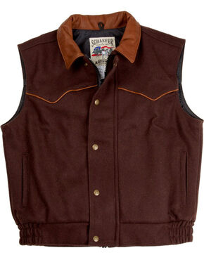 Schaefer Men's 715 Competitor Vest, Chocolate, hi-res