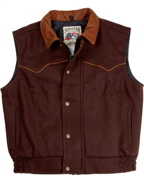 Schaefer Men's 715 Competitor Vest - Big & Tall, Chocolate, hi-res