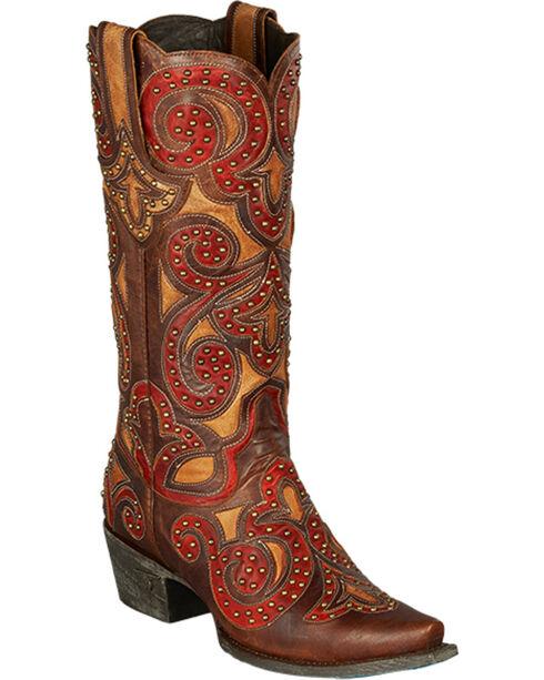 Lane Women's Paulina Western Fashion Boots, Red, hi-res