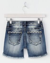 Miss Me Girls' Braided Trim Denim Shorts, , hi-res