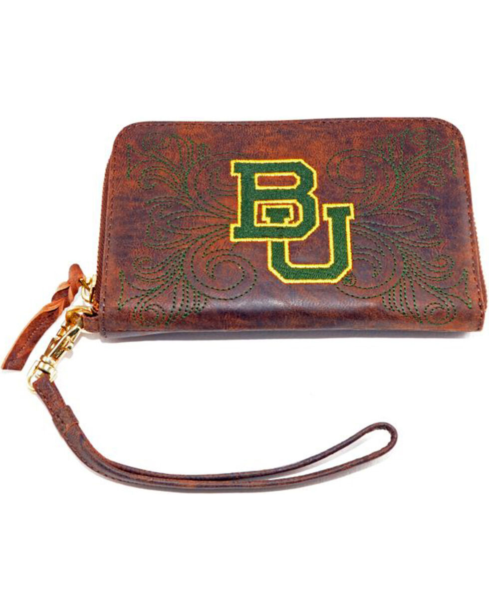 Gameday Boots Baylor University Leather Wristlet, Brass, hi-res