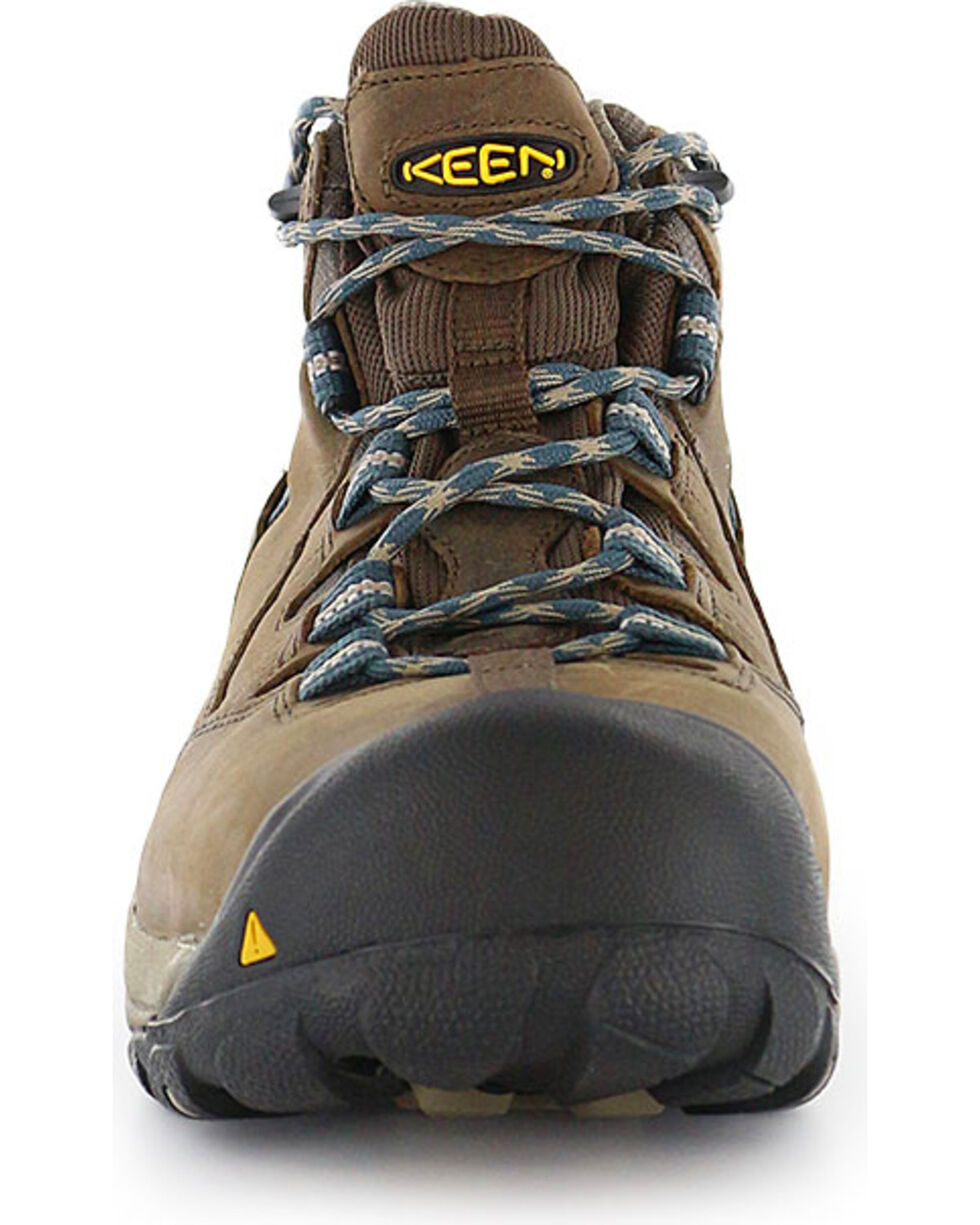 Keen Footwear Men's Detroit Mid Lace-Up Steel Toe Work Boots, Brown, hi-res