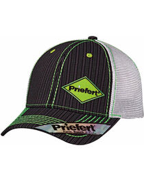 Priefert Men's Black with Lime Green Accents Baseball Cap, , hi-res