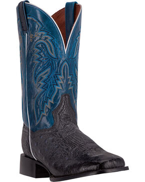 Dan Post Men's Callahan Ostrich Exotic Boots, Black, hi-res