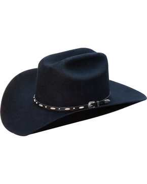 Silverado Men's Clay Structured Wool Western Hat , Black, hi-res